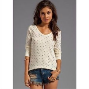 Free People We The Free S polka dot thermal top